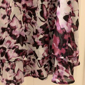 NWOT LANE BRYANT tank or blouse w/layered hemline